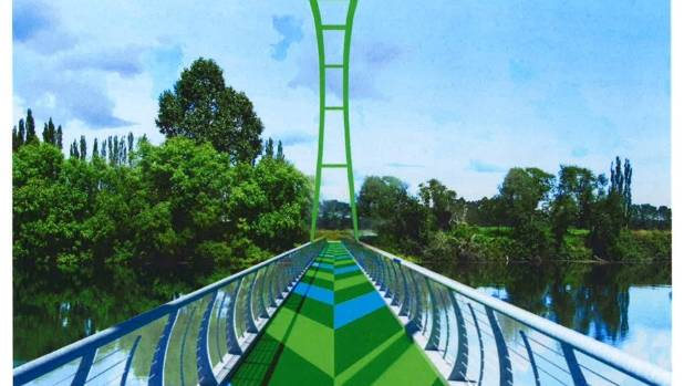 The concept design for the Perry Bridge for the Te Awa Great New Zealand River Ride.