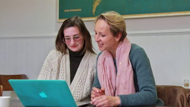 Taranaki Time-bank coordinator Brittany Ryan and marketing coordinator Anja Niechziol say the system of time-banking ...