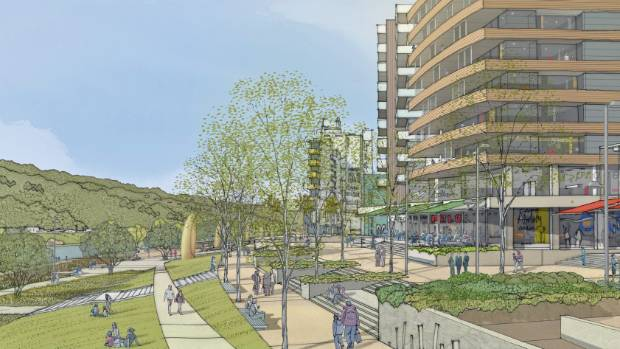 What the Hutt River promenade could look like once flood protection works are completed.