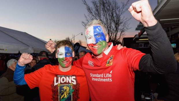 Lions fans will bring colour to FMG Stadium in Hamilton.