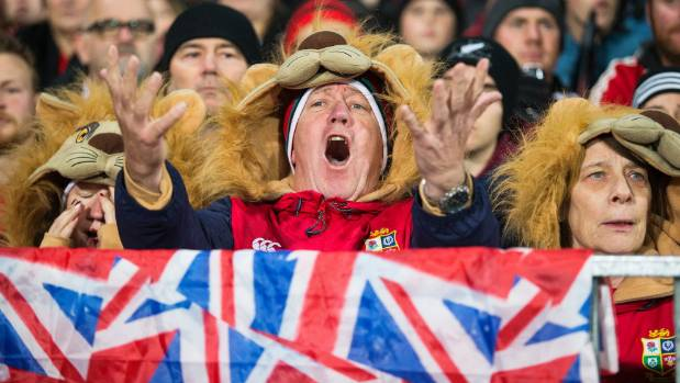 Lions fans know no shame in their support. Look at those hats.