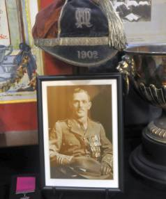 Memorabilia relating to William James Hardham VC takes pride of place at the Petone Rugby Club. Hardham received his VC ...