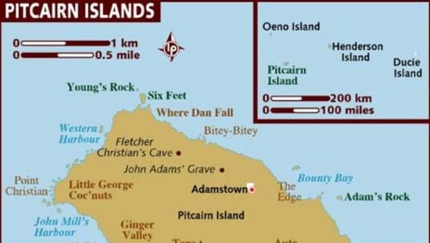 The Pitcairn Islands group includes the uninhabited Henderson Island, about 200 kilometres from Pitcairn.