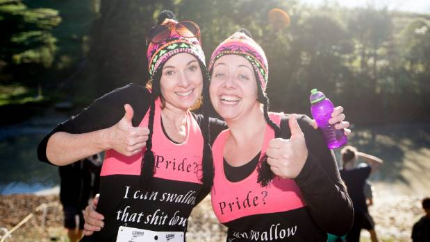 Fleur McLellan and Steph Harrogate were ready for the challenge, with specially made T-shirts.