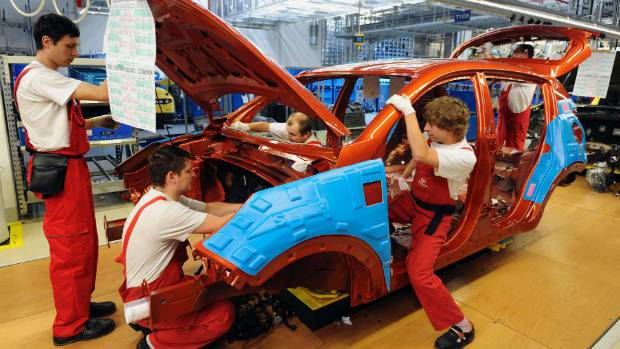 Kia employees work on a Kia Sportage car at the Kia Motors Slovakia plant in 2009. It was not only always the case as ...