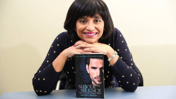Nalini Singh, New York Times best selling author, with her new book Silver Silence.
