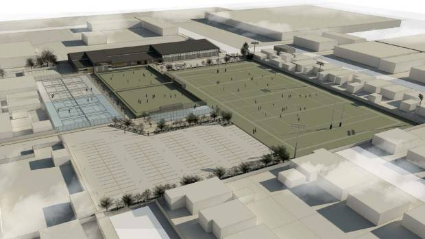 A draft concept plan of what Petone Sportsville might look like.