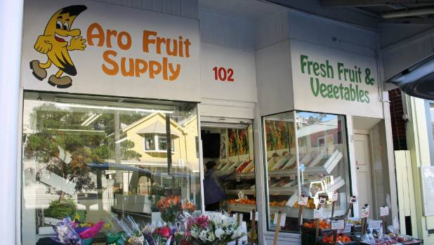 Aro Fruit supply in Wellington, which owner Manjula Patel has applied to convert into a bottle shop.
