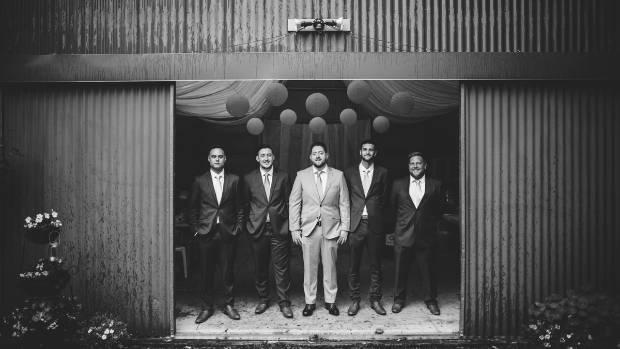 Julian and his groomsmen.