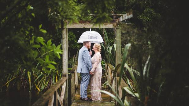 The couple on the bridge.