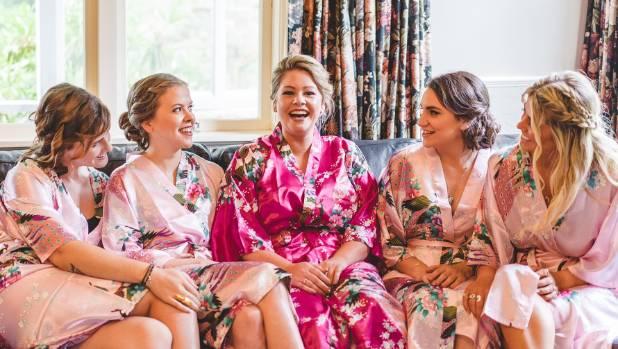 Hannah and her bridesmaids.
