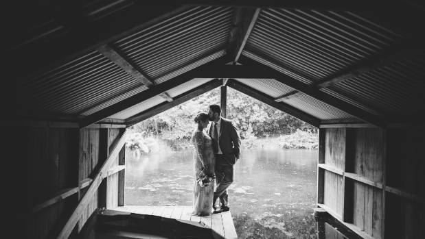 Hanna and Julian shared a special moment in the boatshed.