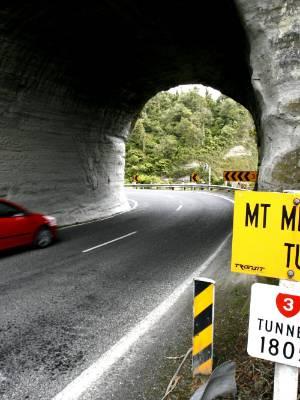Mt Messenger Tunnel on SH3