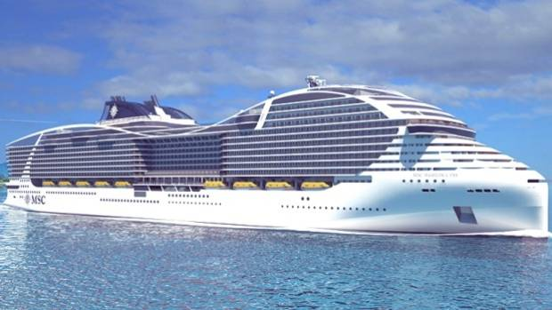 The new 'World Class' ship from MSC Cruises.