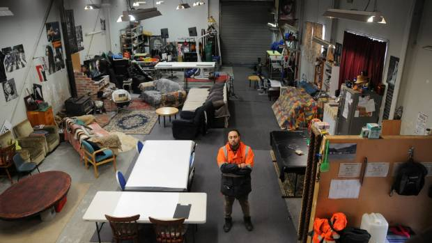 Crash pad or party central: there's plenty of seating, and a wood fire, in the former work site in Waiu St, Wainuiomata. ...