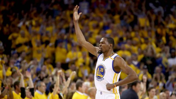 Warriors ride Durant to beat Cavaliers and clinch National Basketball Association  title