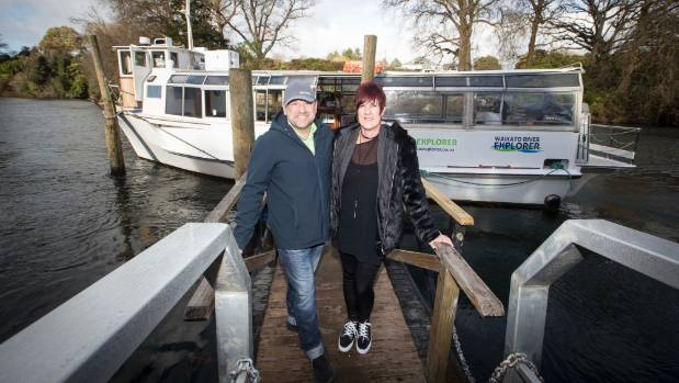Waikato River Explorer owners Darren and  Vanessa Mills are getting people to Fieldays by boat after a rocky start to ...