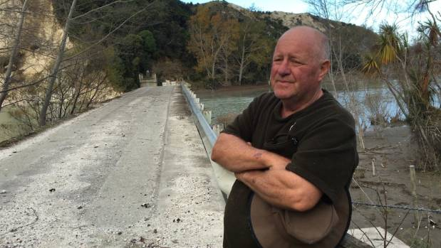 Resident Gavin Clarke says he will have to leave his home if a new bridge is not built.