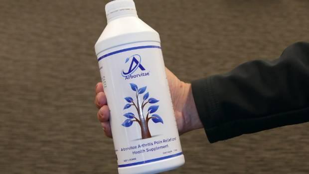 Arborvitae, arthritis pain relief supplement, blocked from entering New Zealand.