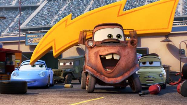 Mater and the gang are back, in Cars 3.