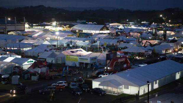 Dawn on the first day of Field Days 2017, Mystery Creek, Hamilton.