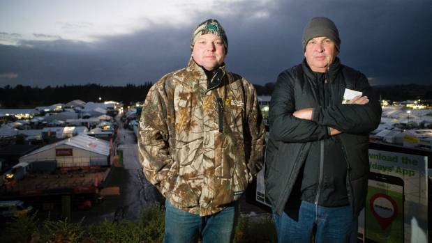 Chris Arbuthnot and Colin Olive, beef farmers from Queensland, came over from Australia specifically for Fieldays.