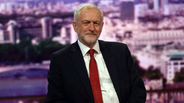 Jeremy Corbyn, leader of Britain's opposition Labour Party speaks on the BBC's Marr Show.