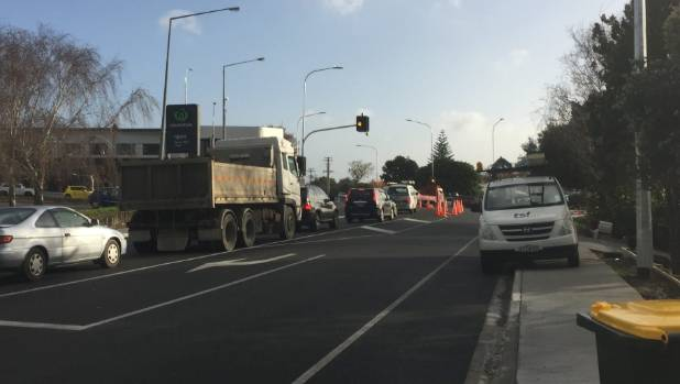 The traffic lights were installed as part of a project that involved upgrading a 1.4km stretch of one of west Auckland's ...