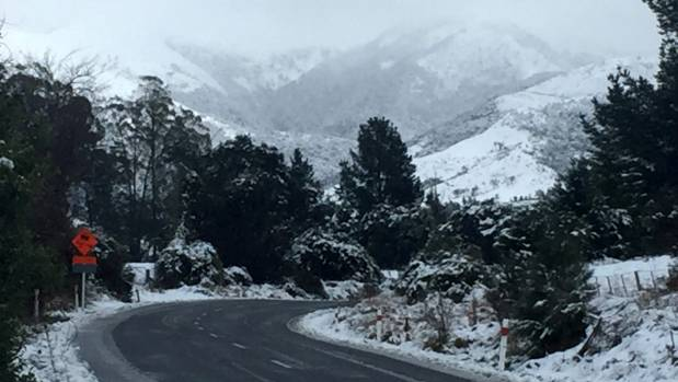 The Inland Rd between Kaikoura and Waiau is commonly covered in snow and ice during winter, making it treacherous for ...