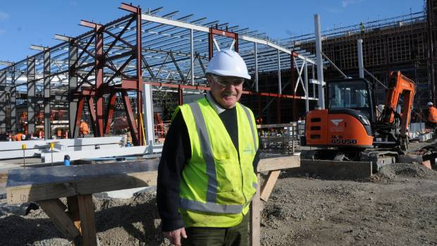Foreman Richard Ireland is one of about 50 workers building a $24.9 million town hall and events centre in Lower Hutt.