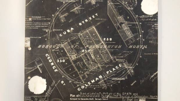 A plan of the Cuba St/Coleman Mall area, 1912.