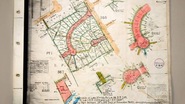 A plan of Parkland Crescent, Terrace End, 1960s.