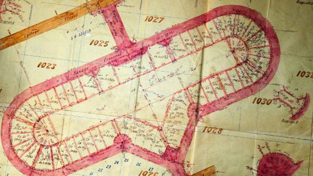 A plan of Savage Crescent, 1930s.