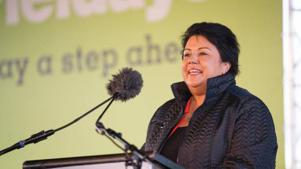 Acting Prime Minister Paula Bennett gives a speech at the opening of Fieldays.