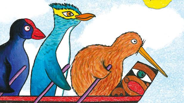 """Row, Row Row Your Waka"" a picture book by Rebecca Larsen"