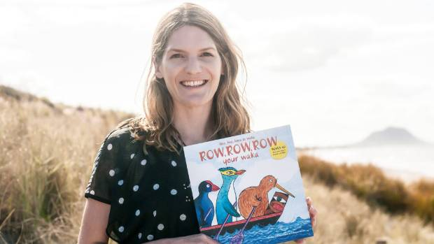 "Rebecca Larsen, author of ""Row Row Row Your Waka""."