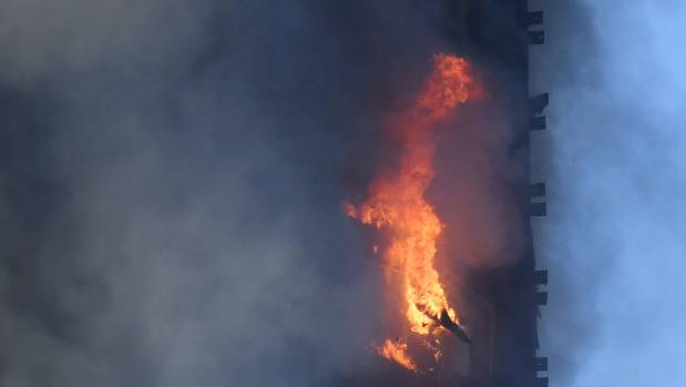 Massive fire engulfs apartment tower in London