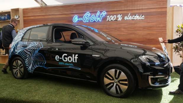 Looks like a regular Volkswagen, but e-Golf runs on pure electric power. Expect to see it on sale this year.