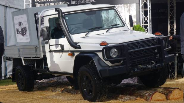 It's a military-spec vehicle for the farm: Mercedes-Benz has brought its G-Professional cab-chassis to NZ.