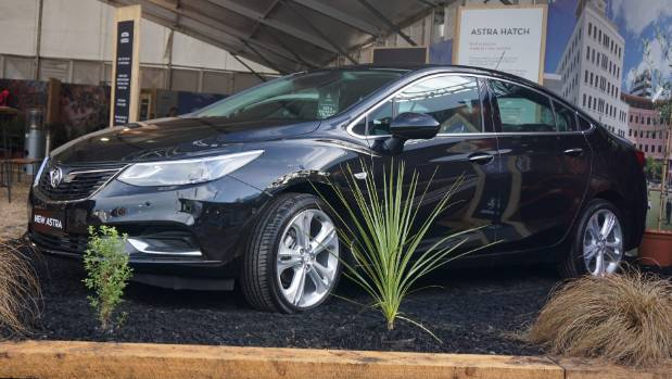 Holden Astra sedan hits Kiwi showrooms this month, but Fieldays is its first public outing.