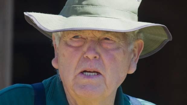 Murray Thacker, director of the Okains Bay Museum, during Waitangi Day activities at Okains Bay on Banks Peninsula.