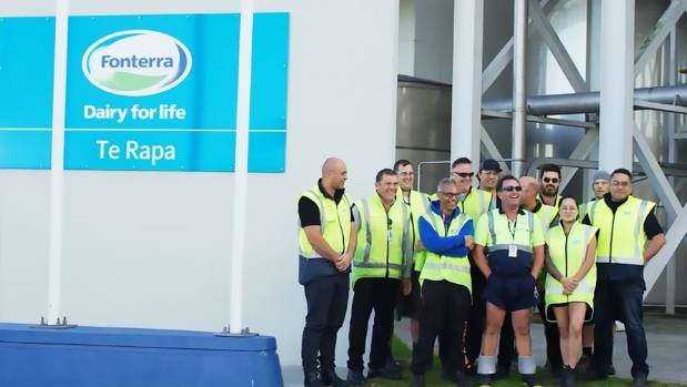 The Fonterra team at Te Rapa.