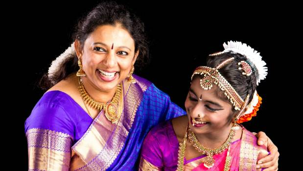 Natraj School of Dance owner Prabha Ravi, left, received a Queen's Service Medal for her contribution to the ethnic and ...