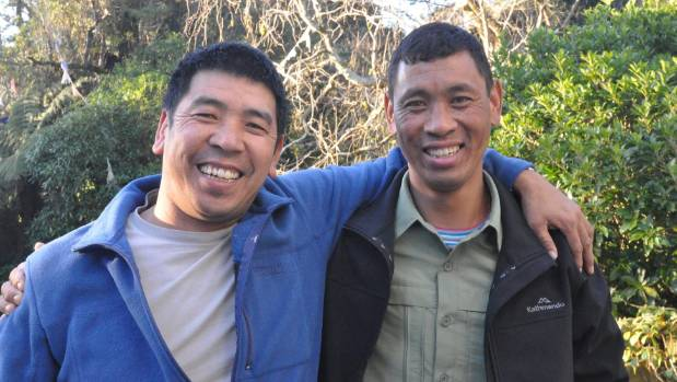 Brothers Nima and Lama Dawa Sherpa catch up in Upper Hutt a month after Dawa scaled Mt Everest for the fifth time.
