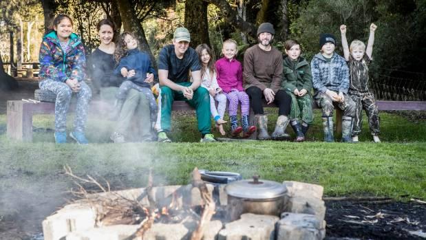 The Deep Green Bush School from left: Heather, Oksana Simonoff, Tara, Hamish, Suri, Summer, Joey, Baillie, Patrick and Jacob.