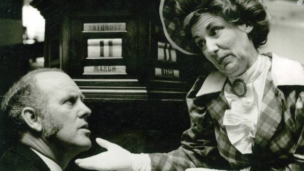 Peter Simmonds and Marjorie Marshall starred in the Showbiz Christchurch production of Hello Dolly in 1972.