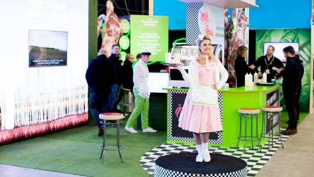 """The """"Milk Baaa"""" was offering flavoured sheep's milk shakes to promote the product to New Zealanders, traditionally wary ..."""