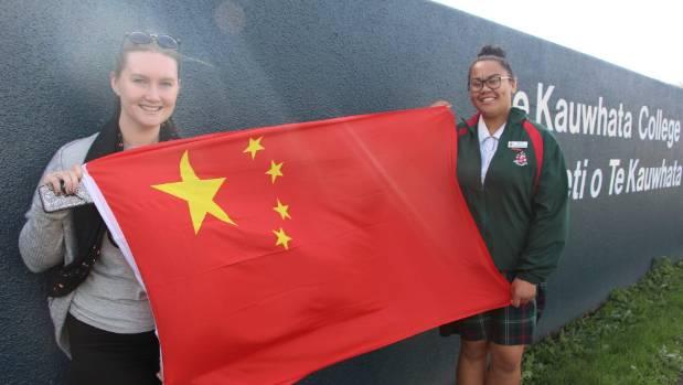 Brittany Wallace from Waeranga, left, and Te Kauwhata College student Marina Wihongi will head to China next month as ...