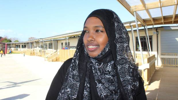 Former refugee Naima Ali is now studying for a Master's degree in Human Rights at AUT.