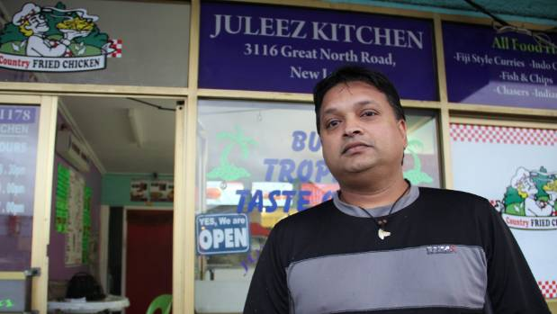 Ram Shalendra of Juleez Kitchen says sales have halved and he can't even pay the weekly rent anymore.